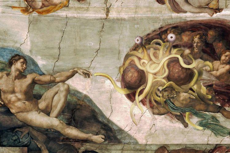 Rozdíl mezi křesťanstvím a pastafariánstvím je téměř nepostřehnutelný. A zkuste dokázat, že to tak není!